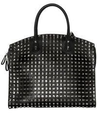 Valentino Rock Studded Leather Top Handle black - Lyst