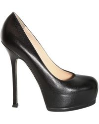 Saint Laurent 140mm Tribtoo Textured Shiny Calf Pumps - Lyst