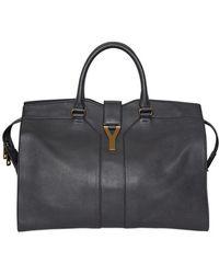 Saint Laurent Large Cabas Chyc Soft Leather Top Handle - Lyst