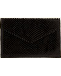 Barneys New York Python Embossed Envelope - Lyst
