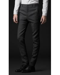 Burberry Prorsum Skinny Fit Compact Wool Trousers - Lyst