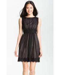 Jill Stuart Silk Chiffon Lace Dress - Lyst