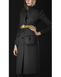 Burberry Prorsum Check Tailored Top Coat - Lyst