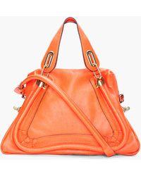 Chloé Orange Medium Paraty Bag - Lyst