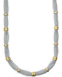 Lauren by Ralph Lauren 14K Gold Plated Two Tone Fine Necklace - Lyst