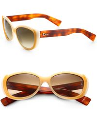 Dior Small Catseye Acetate Sunglasses - Lyst