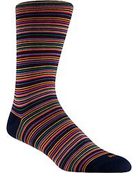 Duchamp - Platinum Stripe Socks  - Lyst