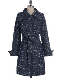 ModCloth - Flock Of The Bay Coat in Trench - Lyst