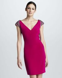 Notte by Marchesa Cap Sleeve Cocktail Dress - Lyst
