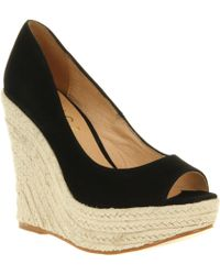 Office Walk All Over Wedge Black Suede - Lyst