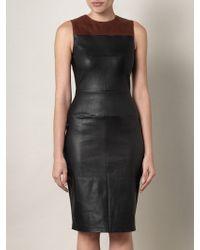 A.L.C. Mika Leather Dress black - Lyst