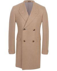 Alexander McQueen Sand Cashmere Doublebreasted Coat beige - Lyst