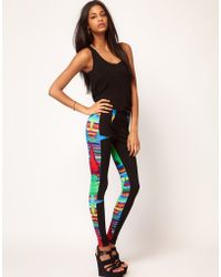 ASOS Collection Asos Legging with Panels in Blurred Print - Lyst