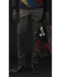 Burberry Prorsum Wool Tweed Skinny Fit Trousers - Lyst