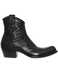 Gianni Barbato - Vintaged Crocodile Low Boots - Lyst