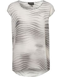 Topshop Animal Scale Tunic Tee - Lyst