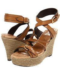 Burberry Overdyed Leather Espadrille Wedges - Lyst