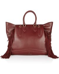 Christian Louboutin Justine Fringed Leather Shoulder Bag - Lyst