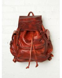 Free People Moto Distressed Backpack - Lyst