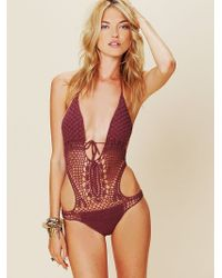 Free People Crochet Monokini - Lyst