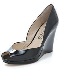 Kors by Michael Kors - Vivian Open Toe Wedge Sandals - Lyst