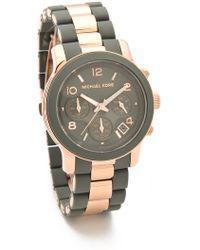 Michael Kors Runway Time Teller Watch - Lyst