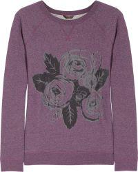 Mulberry Roseprint Cottonjersey Sweatshirt purple - Lyst