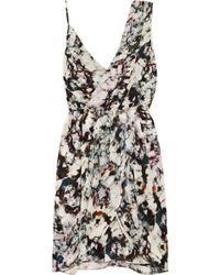Rebecca Minkoff Dehlia Printed Silk Crepe Dress - Lyst