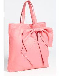 RED Valentino Bow Calfskin Tote - Lyst