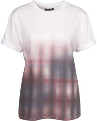 Topshop Check Placement Tee - Lyst