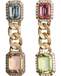 Lanvin | Strass Crystal Tutti Frutti Earrings | Lyst
