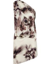 Aminaka Wilmont Draped Printed Silkjersey Dress - Lyst