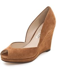 Kors by Michael Kors - Vail Suede Open Toe Wedges - Lyst