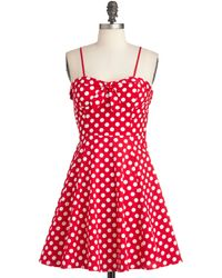 ModCloth Getting Dot in Here Dress - Lyst