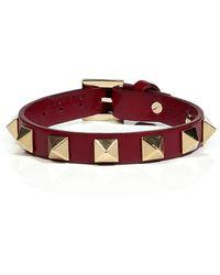 Valentino Barolo Rockstar Studded Bracelet - Lyst