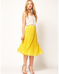 Asos Skirt with Soft Pleats - Lyst