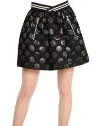 JC de Castelbajac - Waxed Wool Jacquard Polka Dots Skirt - Lyst