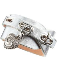 Juicy Couture - Leather Wrap Charm Bracelet - Lyst
