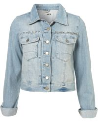 Moto Moto Studded Yoke Denim Jacket - Lyst