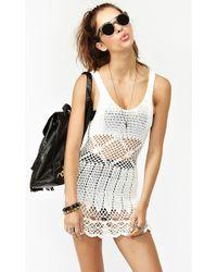 Nasty Gal Boardwalk Crochet Dress White - Lyst