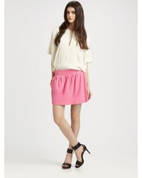 Diane von Furstenberg Omarosa Crepe Mini Skirt - Lyst