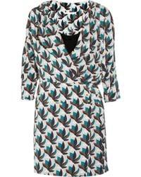 Diane von Furstenberg Agaton Printed Stretch Silk Wrap Dress multicolor - Lyst