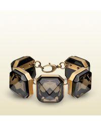 Gucci Geometric Crystal Bracelet - Lyst