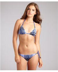 Just Cavalli Royal Snake Print Beaded Tie Side Halter Bikini - Lyst