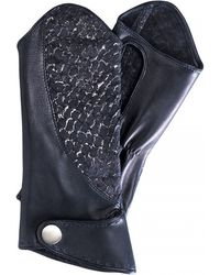 Nina Peter - Jane Perch Skin And Leather Gloves - Lyst