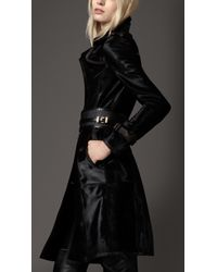 Burberry Long Leather Trench Coat - Lyst