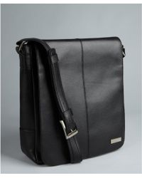 Calvin Klein Black Leather Flight Bag - Lyst