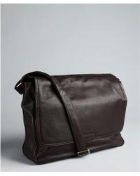 CALVIN KLEIN 205W39NYC - Brown Pebbled Leather Ew Messenger Bag - Lyst