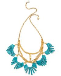 Gemma Redux - Scalloped Stone Necklace - Lyst