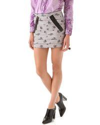 Kelly Wearstler Craft Tweed Skirt pink - Lyst